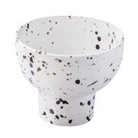 Tigelas cerâmicas cerâmicas tigela de gelado para sobremesa bolo bandeja bandeja decoração placas de mesa de mesa