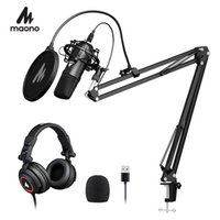 100% MAONO A04H USB Microphone With Studio Headphone Set 192kHz 24 Bit Vocal Condenser Cardioid Podcast Mike For Mac And Windows Microphones