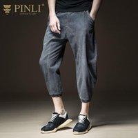 Pinli 2021 Bahar Elastik Bel Gevşek Kot Işık Şalgam Pantolon Rahat erkek Moda Ayak Bileği Uzunlukta B201316343
