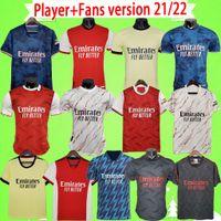 Arsenal 팬 플레이어 버전 424 아스날 축구 유니폼 20 21 22 거너 ODEGAARD THOMAS PEPE SAKA TIERNEY HENRY WILLIAN 2021 2022 축구 셔츠 키즈 세트 유니폼