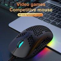 Mice USB Wired Gaming Mouse RGB Gamer With Honeycomb Ergonomic Design 7 Keys 12000 DPI Adjustable For PC Desktop Laptop