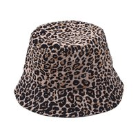 Leopard Color Bucket Hat Folding Fisherman Hats Sun Street Outdoor Sports Tide Cap Spring Fall Summer LLA676