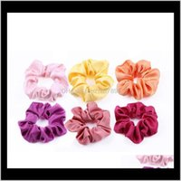 Jewelry Jewelryhigh-Quality Satin Rubber Bands Suit Solid Fabric 50 Color Imitation Silk Large Intestine Hair Ring Aessories Drop Delivery 2