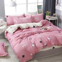 Bedding Sets 49bed Linens Nordic Cute Comforter Pink Duvet Cover Set Quilt Bed Sheets Kids Single Queen King Size