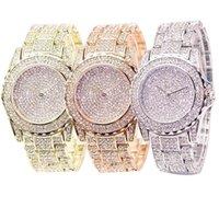 الساعات الفاخرة للرجال والنساء مصمم العلامة التجارية ساعات Tre de Luxe Quartz Pour Femmes، Ronde، Brillante، En Or Argent، Cadeau Dames
