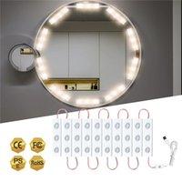 Тщеславие зеркало огни голливудский стиль ультра яркие светодиодные модули USB сенсорный диспетчерские шарики для макияжа таблицы