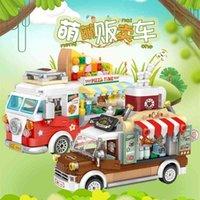 Loz Mini Blocks City Street View Series Fruit / Gelato / Pizza / Caffetteria Vendita di Turcks Divertente Pressostato Giocattoli per rilievi 210330