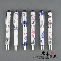 Fountain Pens Blue And White Porcelain Pen Chinese Style Gift Set Series Ink Ceramic