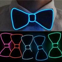 Cravates LED lumière Up Mens bow cravate cravate lumineux clignotant pour la fête de la soirée de danse décoration de soirée de Noël