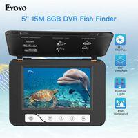 "Eyoyo Brand 30M 1000TVL Fish Finder Underwater Fishing Camera HD 5"" Video Monitor IR LED Cam Deeper Olta Kam IP Cameras"