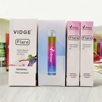 Orijinal Vidge Flare E-Sigaralar Tek Kullanımlık Pod RGB Işık Cihazı 800 Puffs 500mAh Pil 3 ml Öncede Bulunan Kartuş Vape Kalem Orijinal VS Bar XXL