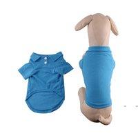 Chiens vêtements petit chien Vêtements mignon T-shirt T-shirt Chiot Pet Cat Vest Polo Chemises Animaux de compagnie Costumes S m l Fwe8005