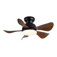 Mini ventilateur de plafond LED lampe haute qualité ABS Lame DC Moteur 110-240V Télécommande moderne 3 Couleur pour la salle à manger Chambre à coucher Noir