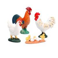 4pcs set Simulation Hen Chicken Farm Poultry Animals Action Figures PVC Lifelike Education Kids Children Model Ornament Toys