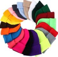 US сток с твердой унисельной головкой осень осень зима шерстяные смеси мягкие теплые трикотажные крышки мужчин женщин Skullcap шляпы Горро лыжные кепки 23 цвета шапочки CO17