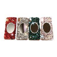 Frauen-Luxus-Diamant-Handy-Fälle mit Spiegel Acryl Hardcover für iPhone 11 12 13 Pro max XR x 7 8plus