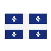 Kanada Quebec Flagge große 3 x1,5 ft fuß kanadisch provinz qc flaggen banner 90 * 150 cm Polyester mit Messing Tüllen Hausgarten Wand Boot Dekor