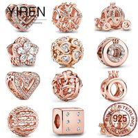 Высококачественный бутик 2021 925 стерлингового серебра шарм из бисера кулон подходит для DIY браслет мода женщин Pandora ювелирные изделия пользовательские подарок на день рождения