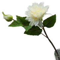2Heads Silk Dahlia Flower Branches Artificielles Fleurs pour la décoration de mariage Mariage Fake Home Couronnes décoratives