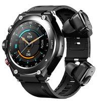 Pulsera inteligente T92 Tarifa cardíaca Presión arterial Sangre Oxígeno Ejercicio Monitoreo Bluetooth Call TWS Doble Bluetooth auriculares Smart Watch Report