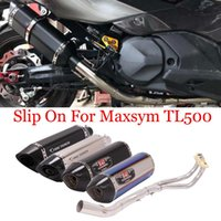 Slip On For Maxsym TL500 Yoshimura Motorcycle Full SystemExhaust Pipe Modified Front Middle Link 51mm Muffler DB Killer Exhaust System