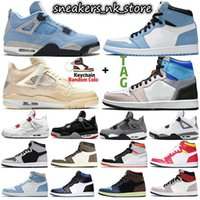 Jumpman Retro 4 Sail University Blue 1s 4s Men Basketball Shoes Hyper Royal Shadow 2.0 Dark Mocha Silver Toe Twist 1 women mens Sports sneakers