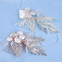 Hair Clips & Barrettes Sea Shell Comb Bride Rhinestone Headpiece Wedding Accessories Head Jewelry Decoration LB