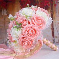 Свадебные цветы Sexemara Украшение Ramos de Novia Букет ручной работы Искусственный цветок Buque Buque Casamento Bridal для
