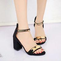 Sandals Black Women Summer Ankle Strap Ladies Open Toe Platform Sandalias Thick Heel Gladiator Shoes Femme Sexy Party