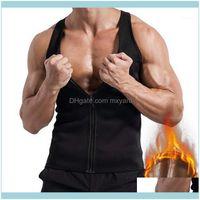 Jerseys Running Wear Outdoor Apparel & Outdoorsvertvie Mens Workout Sports Vest Sweat Sauna Waist Body Shaper Slimming Male Athletic Gym Clt