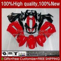 OEM Bodywork para Kawasaki Ninja ER 6 F 2006-2008 ER6 F 650 R 650R 06-08 Cuerpo 6NO.7 650R-ER6F ER-6F ER 6F 2006 2007 2008 650-R ER6F 06 07 08 Feriaturas de la motocicleta ROJO GLOSSY