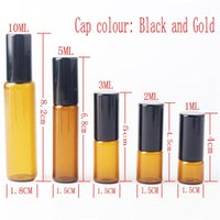 Storage Bottles & Jars 50pieces lot 1ml 2ml 3ml 5ml 10m Glass Roll On Bottle With Stainless Steel Roller Small Essential Oil Roller-on Sampl