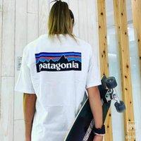 Patagonia Tshirt S - 3XL Mode Shorts de haute qualité T-shirt de la vraie marque Marque Tops d'été Tops à manches courtes Mens de coton Chemises
