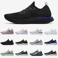 Préférentiels 2021 Epic React Fly Knit V2 V1 Chaussures de course pour hommes Femmes Triple Noir Blanc Royal Royal Rose Baskets Sports Taille 36-45