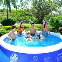 حمام سباحة 4.5 * 0.9 متر يمكن أن تستوعب 1-14 شخصا متعدد الأشخاص الكبار سماكة سوبر كبير المنزل الصيف الملحقات المحمولة