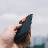 Sacs de rangement DAX V2 Ultra-Thin Thin-Out Sac Cascade Multi-Card Business 2 génération Portefeuille à gradient moelleux simple