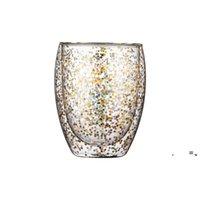 Newwine الزجاج زجاجة المياه النجوم السماء القدح مزدوجة الجدار الزجاج كؤوس مقاومة للحرارة الويسكي tumblers هدية عيد المطبخ الرئيسية drineware EWD73