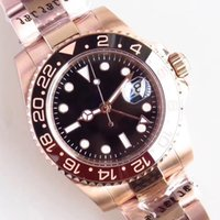 U1 Factory ST9 40mm Automatico Dial Black Dial di alta qualità uomo orologi da polso da uomo orologi con rosa Everose Gold 126117 Acciaio inox Bracciale in acciaio inox Oyster Braccialetto luminoso DOT ora