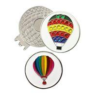 Golf Eğitim Yardımları Pinmei Kristal Yangın Balon Ball Mark Manyetik Şapka Ile Klip Setleri 2 adet İşaretleyiciler PC Cap Klipler Aksesuarları