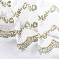WPKIRA White Pearls Вышивка занавес для гостиной Кружева нижняя прозрачная драпировка сетка ткани балкона окна S399 # D Drapes