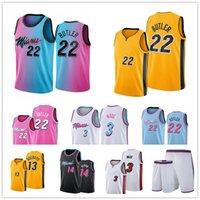2022 Dwyane 3 Wade Men Jersey Jimmy 22 Butler Tyler 14 Herro Bam 13 Adebayo City Basketball Edition Jerseys