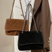 2021 Vintage Winter Pre-sale Nubuck Cowhide Leather Bags Multi Pochetter Matelasse Chain Cross Body Famous Luxury Designer Classic Falp Caramel Black Handbags 28C
