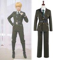 APH Axis Powers Hetalia England UK Arthur Kirkland Cosplay Kostym Outfit G0913