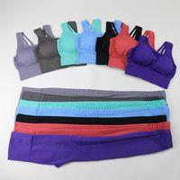 Yoga Outfit Women Fitness Sets Fashion Seamless Sports Suits High Waist Leggings Workout Pants Padded Bra GYM Set Sportswear
