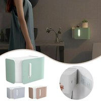 Toilet Tissue Box Smart Sensor Night Light Restroom Paper Punch Home Free Wall Rack Hanging G2U8 Boxes & Napkins