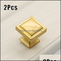 Craft Arts, Crafts Gifts Home & Gardencraft Tools 2Pcs Modern Contemporary Gold Cupboard Der Cabinet Door Knobs Handles Pls Knob (With 25Mm