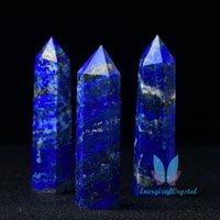 Blue Lapis Crytsal Tower Reiki Healing Meditation Chakra Specimen Points Regalo