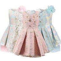 Childdkivy Girls Princess платье Детские платья для девочек Детские вечерние вечеринки платье цветок девушка платья одежда 3-10Y Vestidos 210402