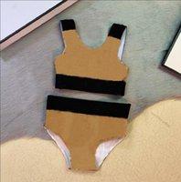 여름 아기 소녀 한 조각 Bikinis 수영복 디자이너 아이들 격자 무늬 수영복 수영복 자식 해변 소녀 착용 수영
