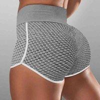 2020 Shorts de sport pour femmes Jacquard Tissu courte pantalon court avec une taille haute et une formation à la hanche Pantalons de yoga Sexy Skinny Leggings G4RY016